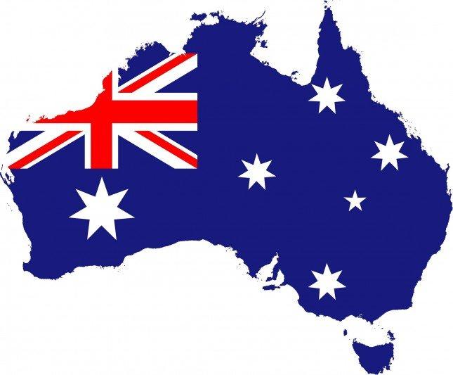 Bandeira da Austrália. Foto de: http://luizricardo.org/
