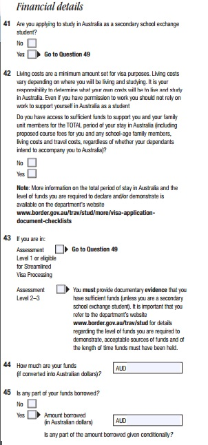 Parte do formulário sobre detalhes financeiros.
