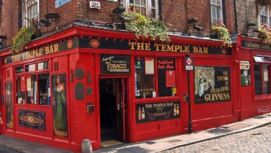 The Temple Bar localizado em Dublin