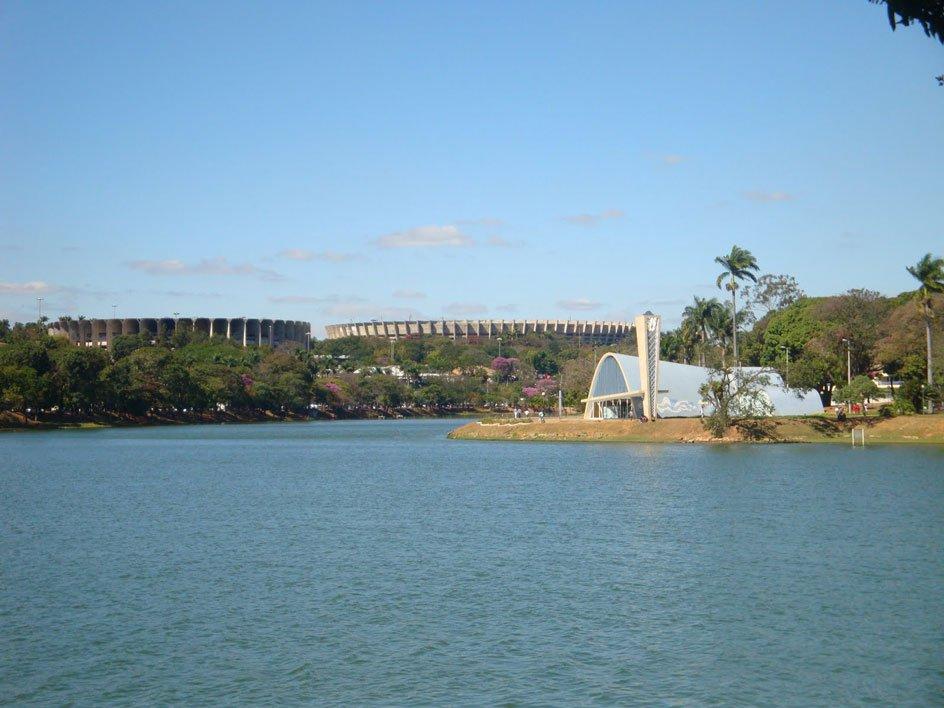 Complexo da Pampulha - Mineirão e Mineirão são vistos ao fundo - Foto: http://www.akibh.com.br/