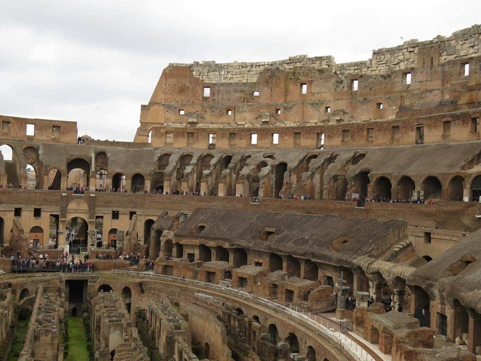 Interior do Coliseu   O que fazer em Roma em 3 dias