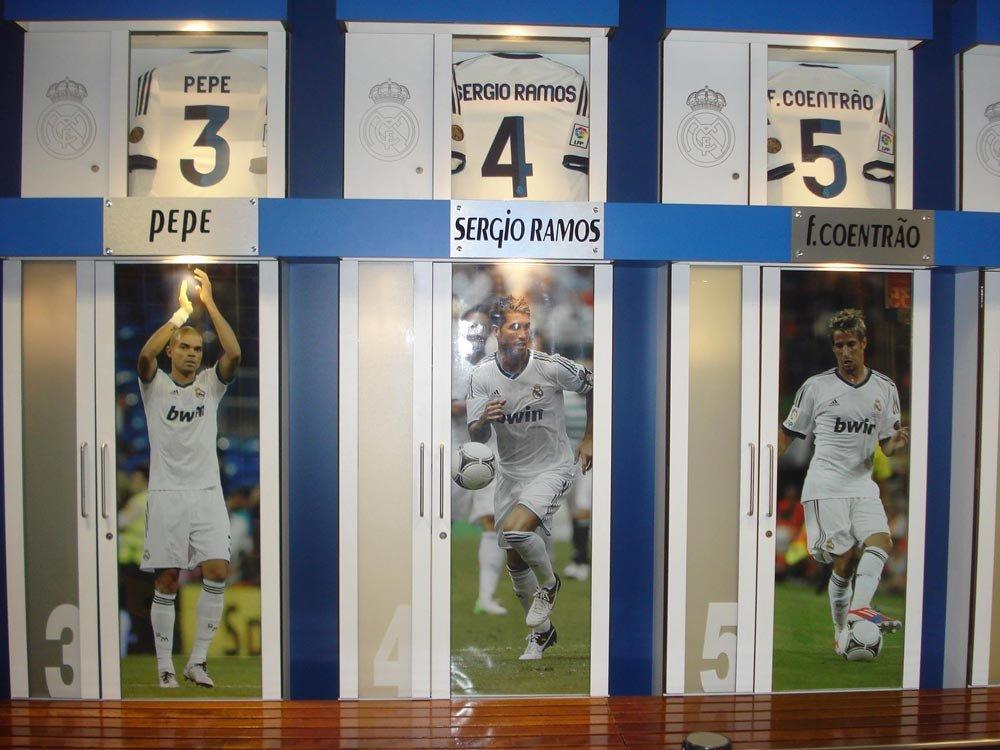 Vestiário do Bernabéu - Foto: Lid Costa