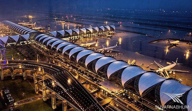 Aeroporto Suvarnabhumi - O mais acessível dos aeroportos de Bangkok. Foto: http://www.madmonkeyhostels.com