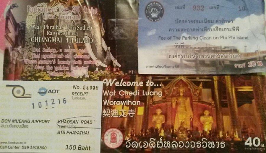 Ingressos Doi Suthep e Chedi Luang + Ticket de ônibus | Quanto custa viajar para a Tailândia