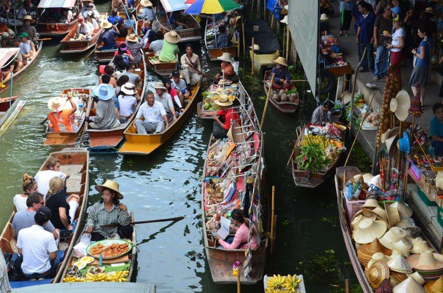 Mercado flutuante. Foto: http://www.worldwidemacato.com/