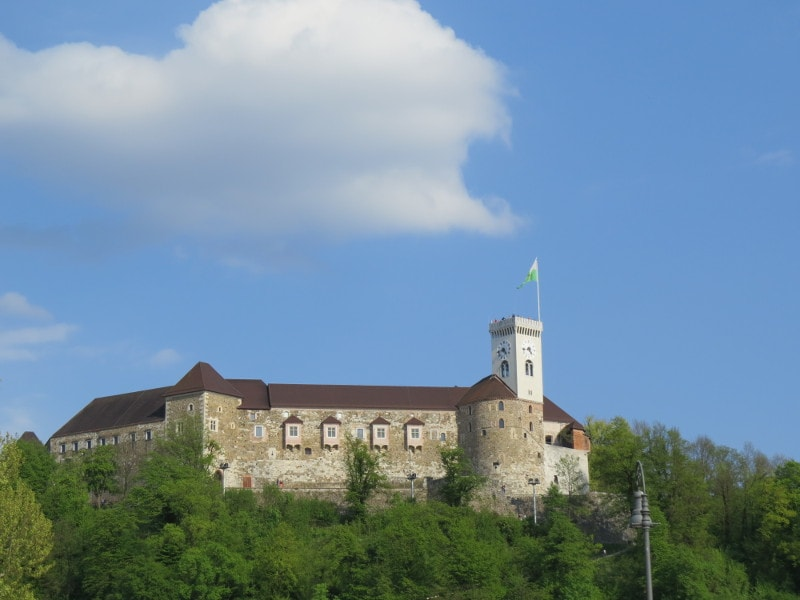 Castelo de Liubliana.