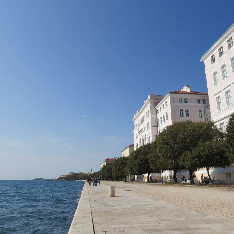 Riva - Um calçadão de Zadar