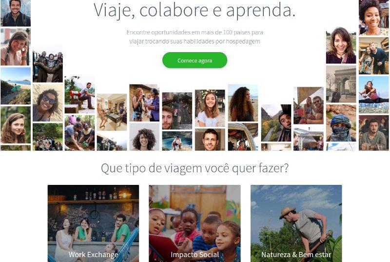 Site do Worldpackers | Como economizar com a hospedagem