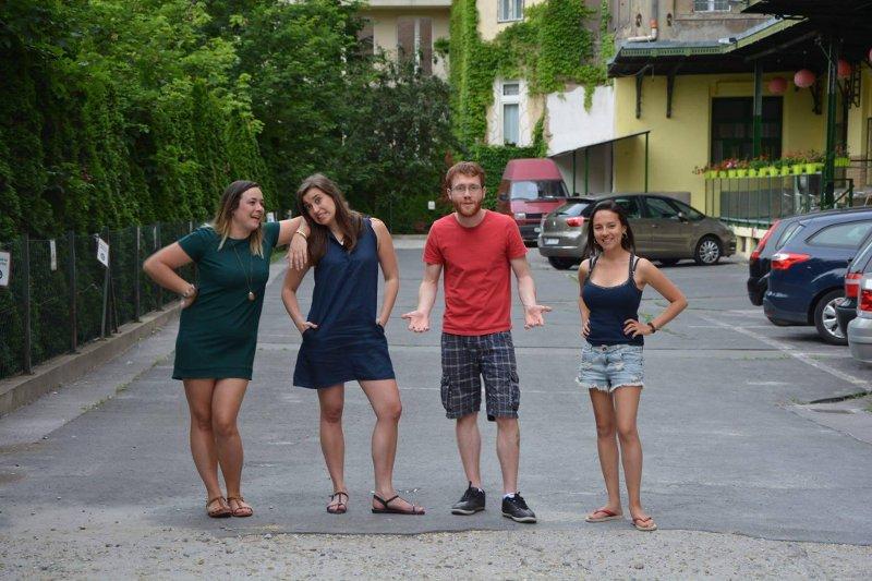 Pessoal que trabalhou comigo em Budapeste | 5 motivos para viajar sozinho