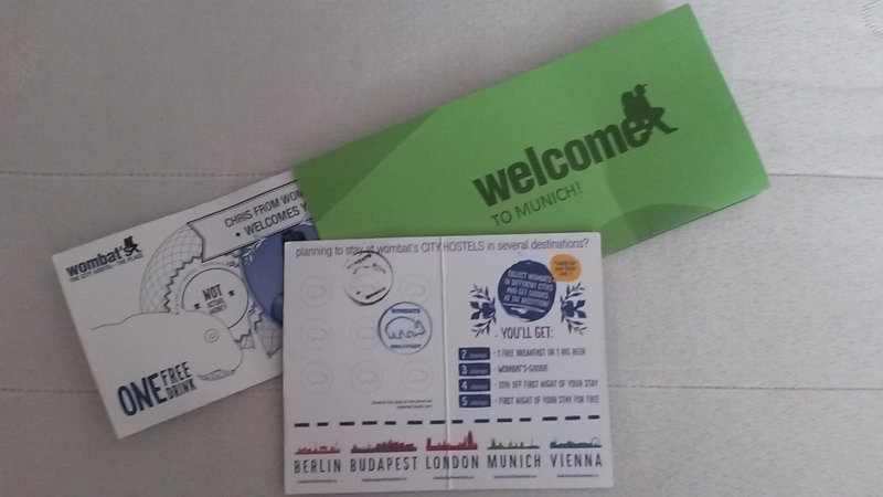 Voucher welcome drink e café da manhã | Wombats Hostel em Munique