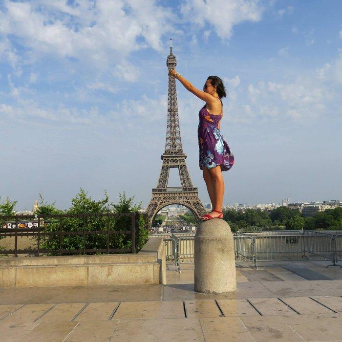 Regiao de Trocadero. Torre Eiffel ao fundo