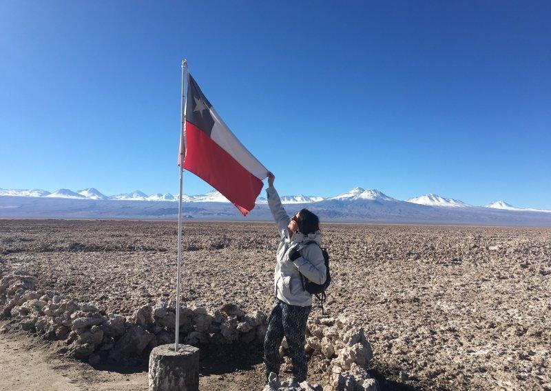 Bandeira do Chile.