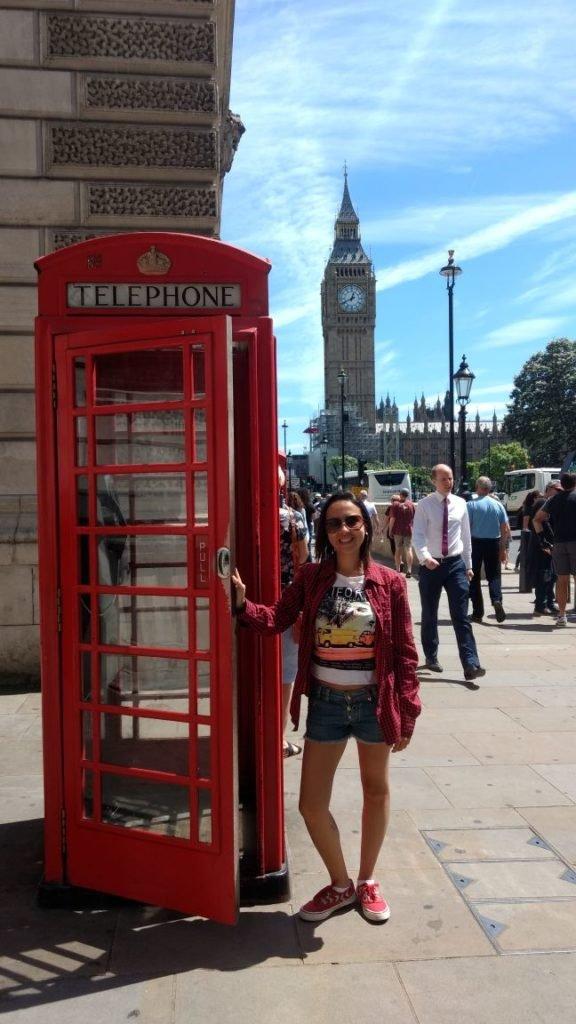 Famosa cabine de Telefone com Big Ben ao fundo | 10 principais pontos turísticos de Londres