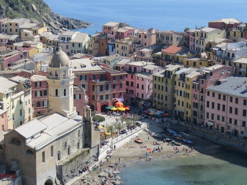 Vernazza - vista do alto da trilha | O que fazer em Cinque Terre