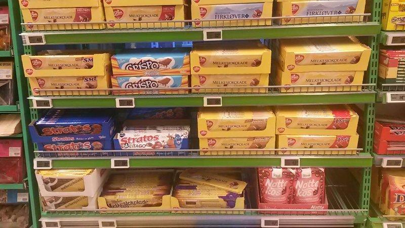 Foto tirada em um supermercado de Oslo