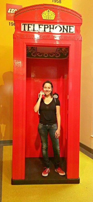 Cabine telefônica de Lego | Compras em Londres