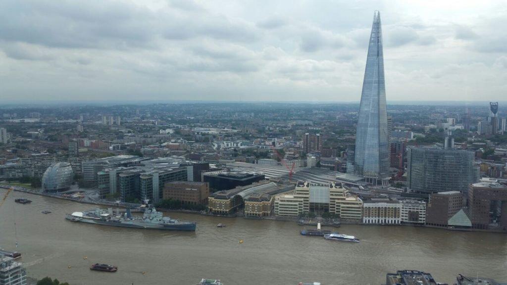 Vista do Sky Gardens em Londres | O que fazer em Londres em 4 dias