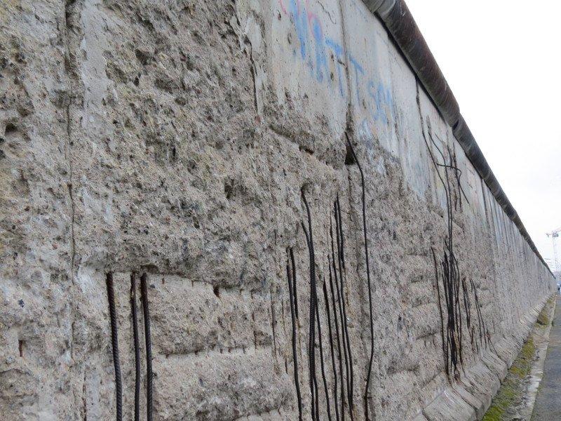 Muro de Berlim perto da Topografia do Terror.