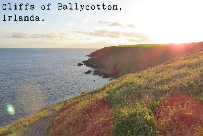 Cliffs pertinho de Cork, interior da Irlanda.