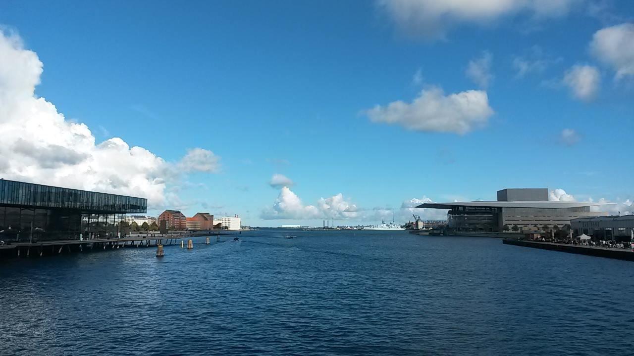 Ponte que atravessei para chegar até Christiania. Ao fundo dá pra ver a Ópera.