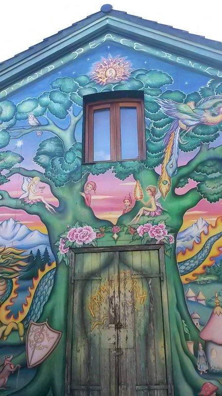 Arte de rua no distrito de Christiania!