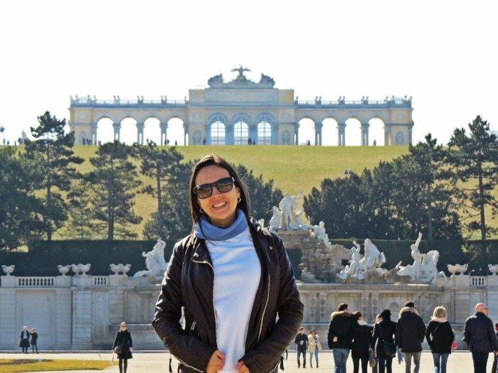 Parte de trás do Palácio Schönbrunn.