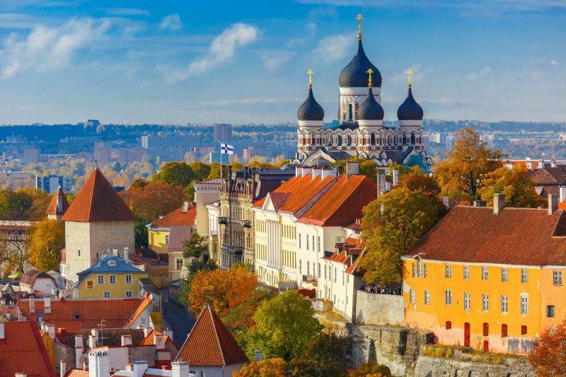 Vista aérea de Tallinn, capital da Estônia
