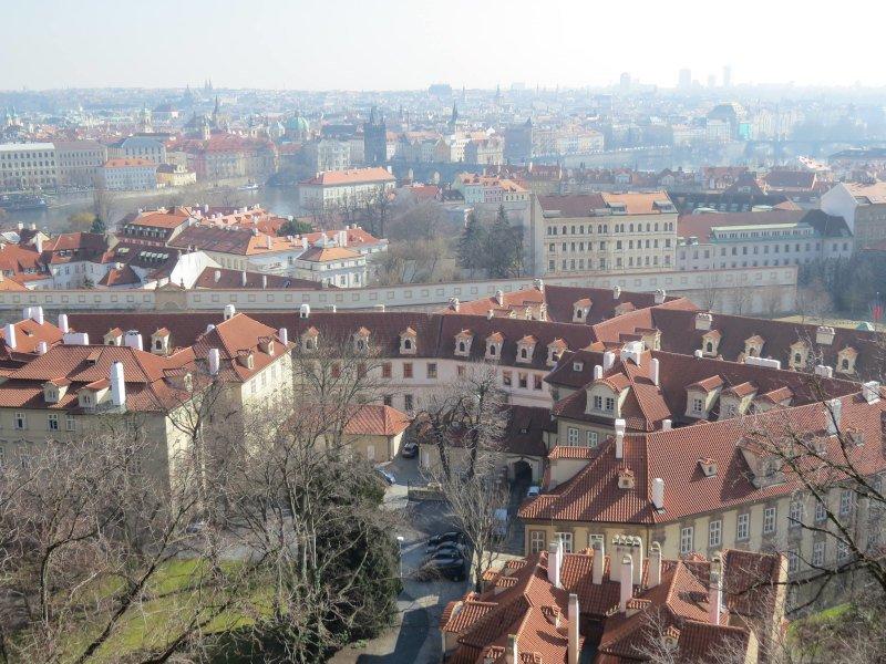 Vista aérea de Praga