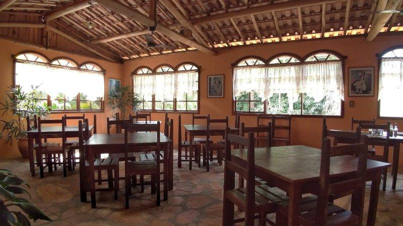 Área onde é servido o café da manhã.