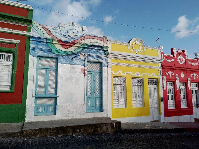 Casinhas charmosas do centro histórico.
