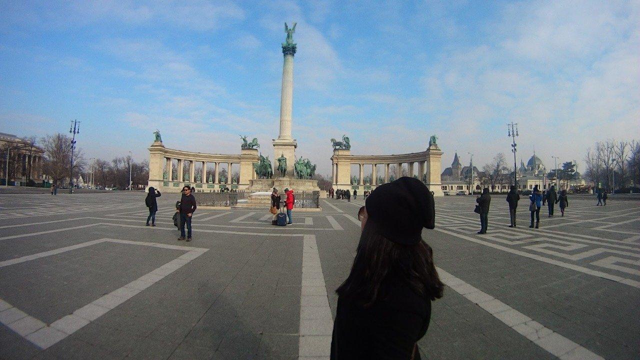 Budapeste, Praça dos Heróis.