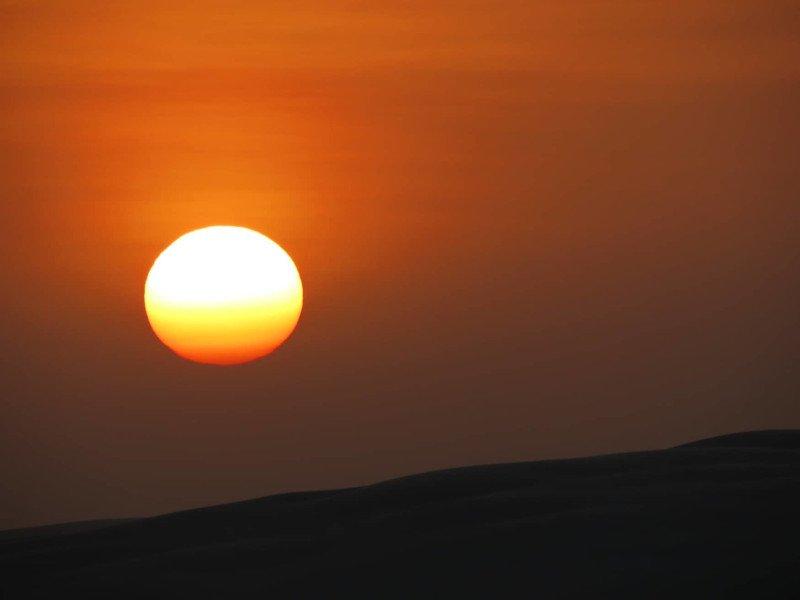 Pôr do sol - Simplesmente fantástico!