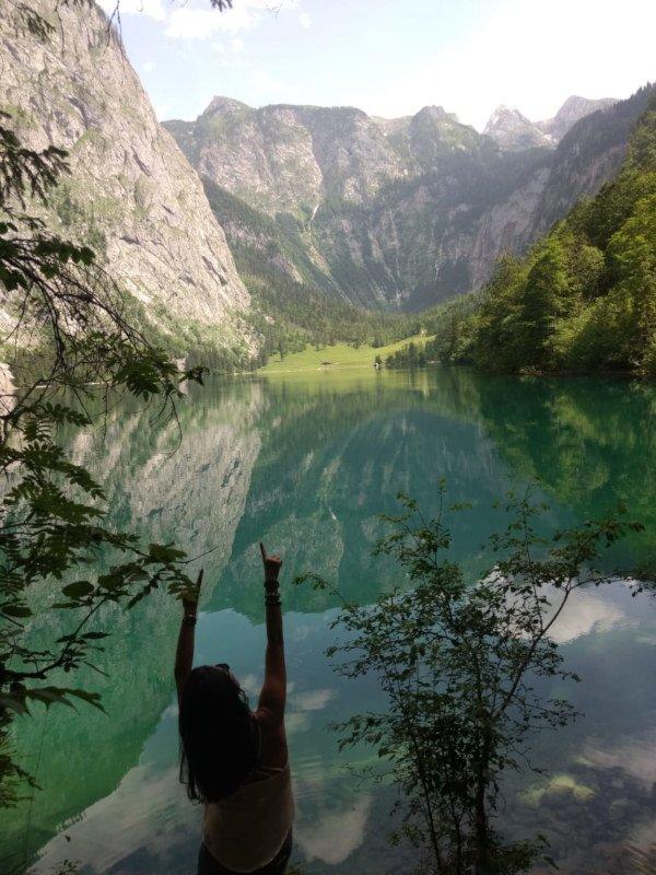 Berchtesgaden e seu lago Obersee.