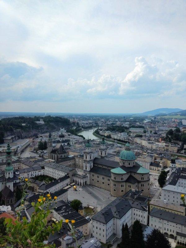 Vista de Salzburg da Fortaleza Hohensalzburg