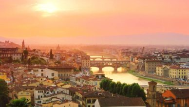 Vista aérea de Florença