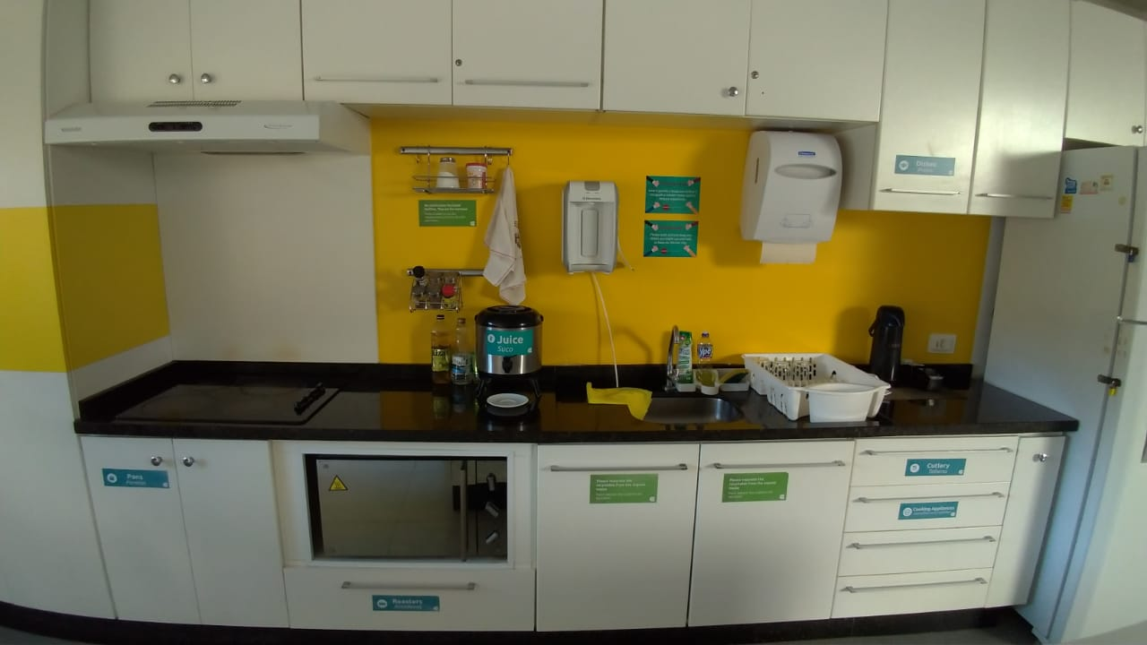 Cozinha do Concept Design Hostel   Onde ficar em Foz do Iguaçu