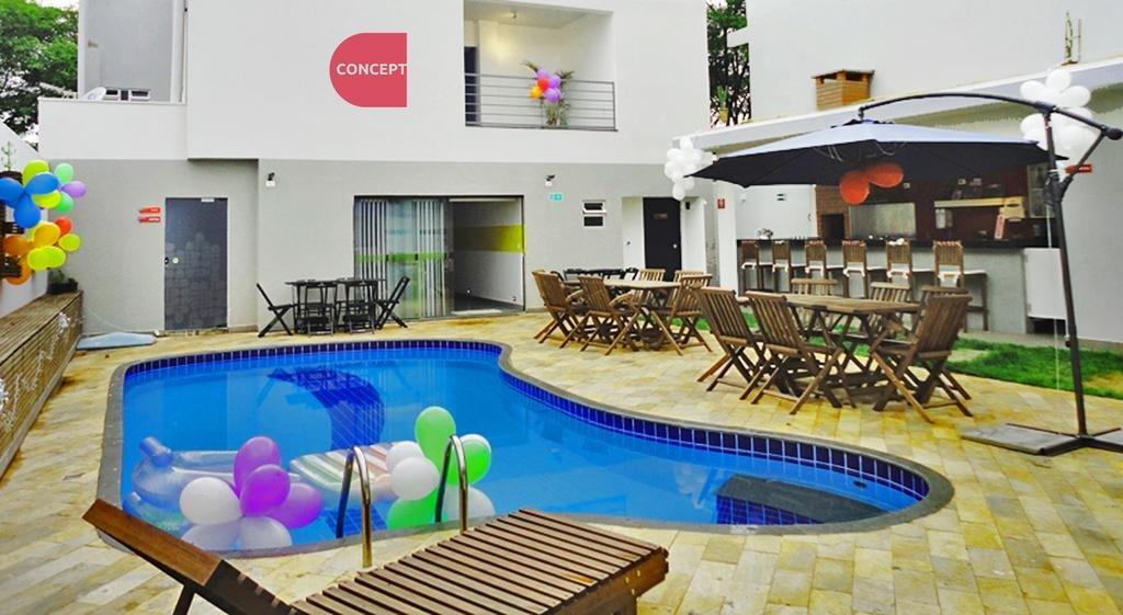 Piscina do Concept Design Hostel | Onde ficar em Foz do Iguaçu