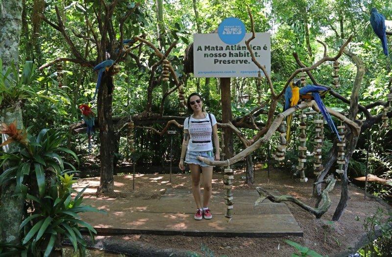 Araras do Parque das Aves.