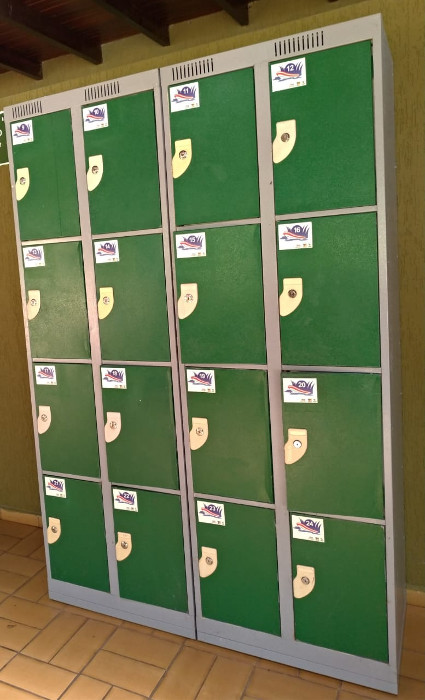 Guarda volumes do Macuco Safari.
