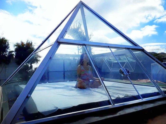 Pirâmide para meditação na Pousada Viva em São Thomé das Letras.