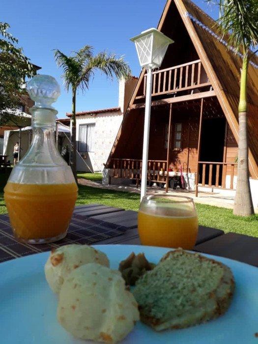 Café da manhã delícia na Pousada Viva em São Thomé das Letras
