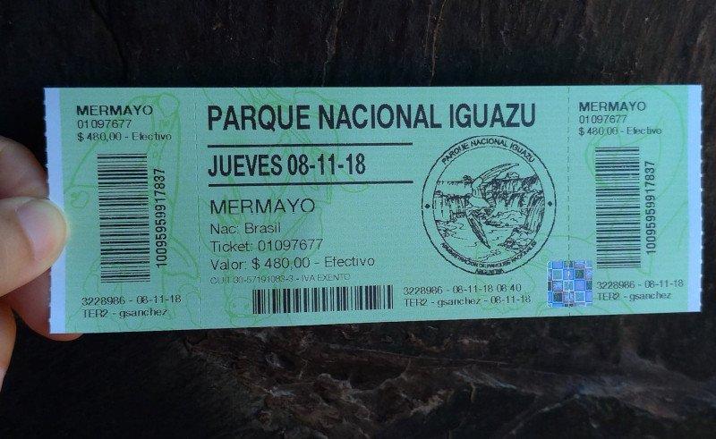 Ingresso das Cataratas da Argentina | Quanto custa viajar para Foz do Iguaçu em 5 dias