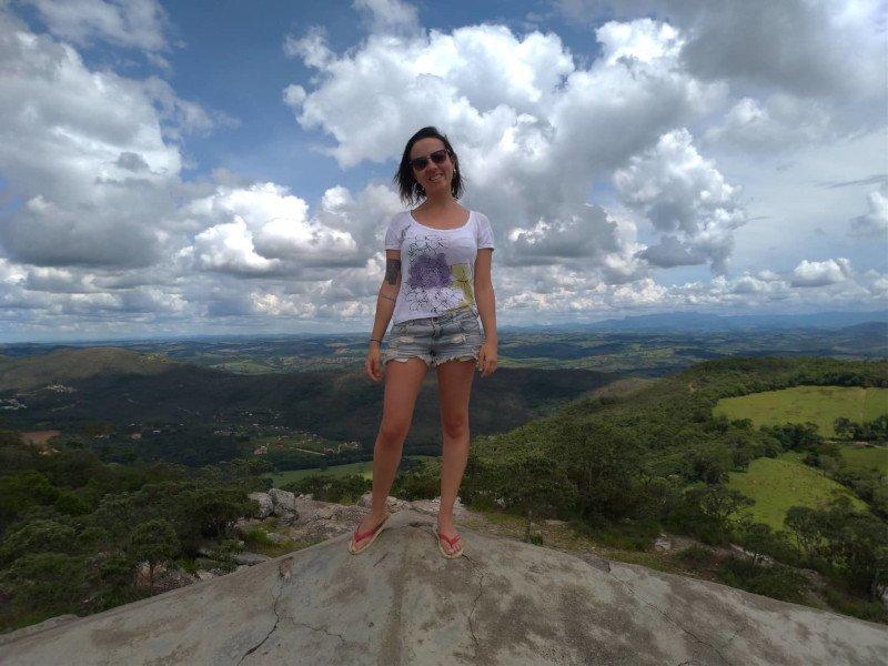 No topo da famosa pirâmide! | O que fazer em São Thomé das Letras