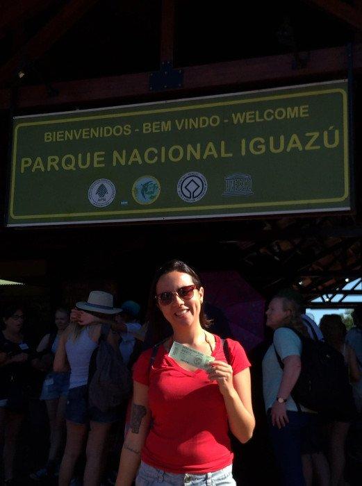 Entrada do Parque Nacional Iguazú.