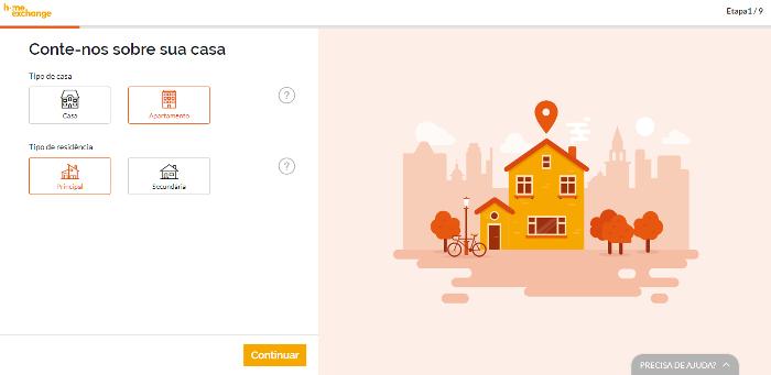 Preenchendo o perfil   Como funciona o Home Exchange