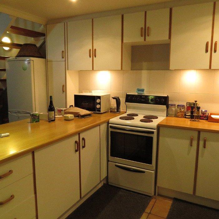 Cozinha da casa de Mossel Bay.