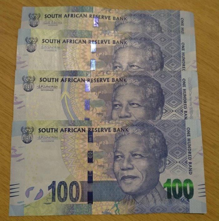 Notas de 100 rands   Dicas de viagem para a África do Sul