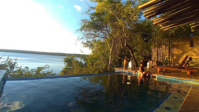 The Nut House private pool at Tongabezi.