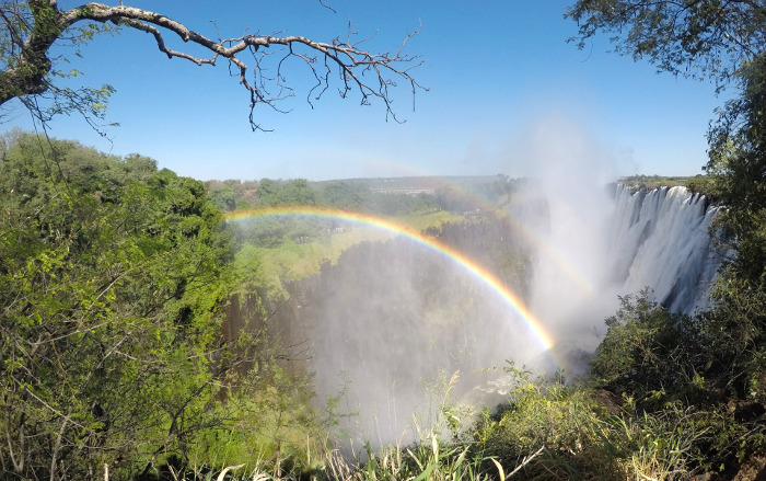 Victoria Falls na Zâmbia.