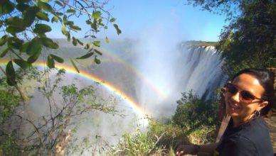 Arco íris nas Cataratas Vitória